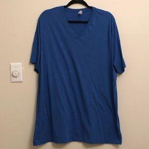 NWOT heather royal blue triblend v-neck T-shirt